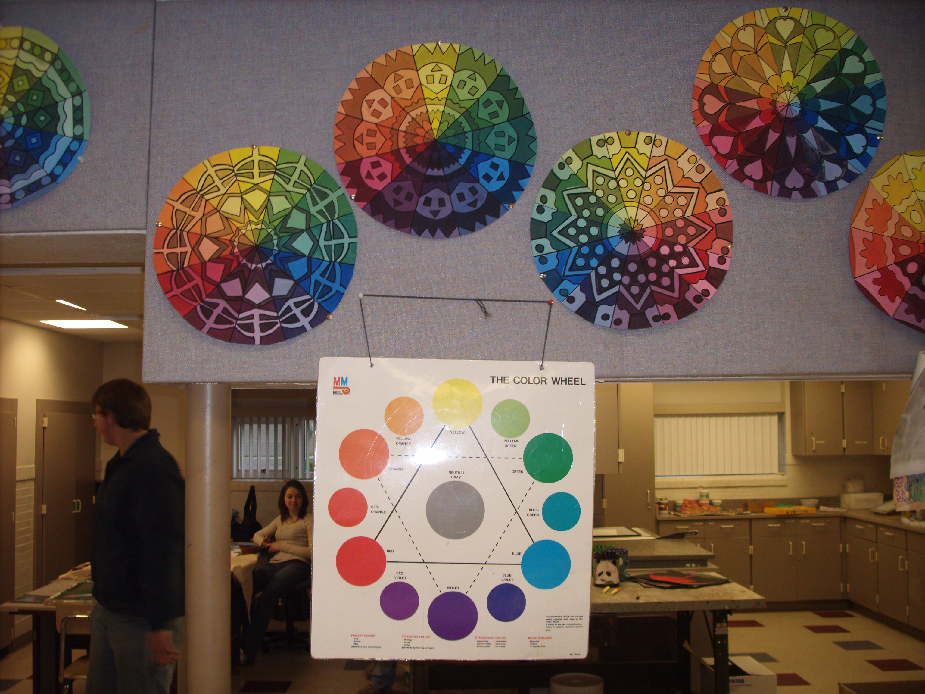 Art I High School Students Created An Project That Was Based On The Color Wheel And Radial Designs Really Enjoyed It